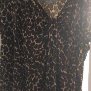 Merona size 2 women's Plus leopard T-shirt
